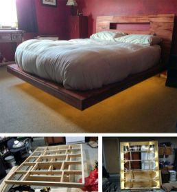 Cool Floating Bed Design Ideas 19