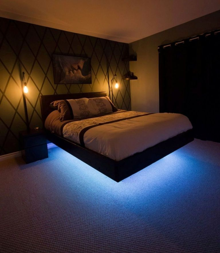 Cool Floating Bed Design Ideas 24