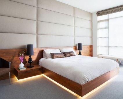 Cool Floating Bed Design Ideas 29