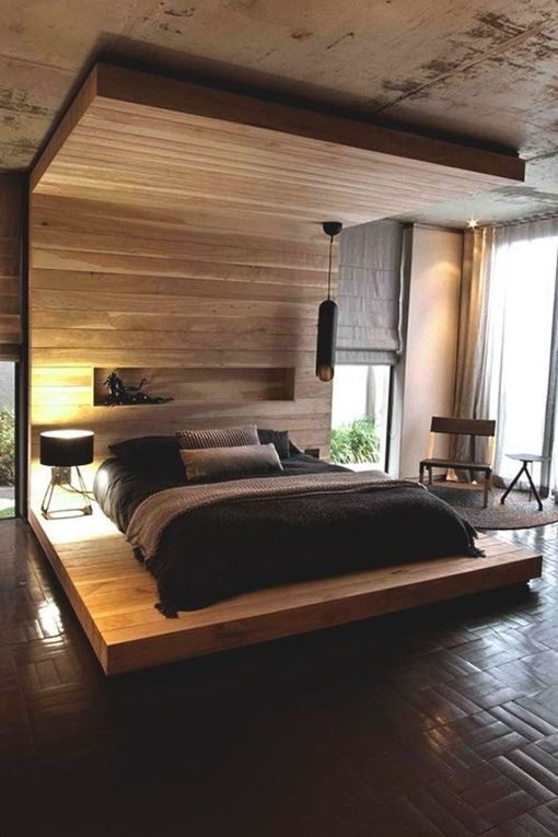 Cool Floating Bed Design Ideas 37