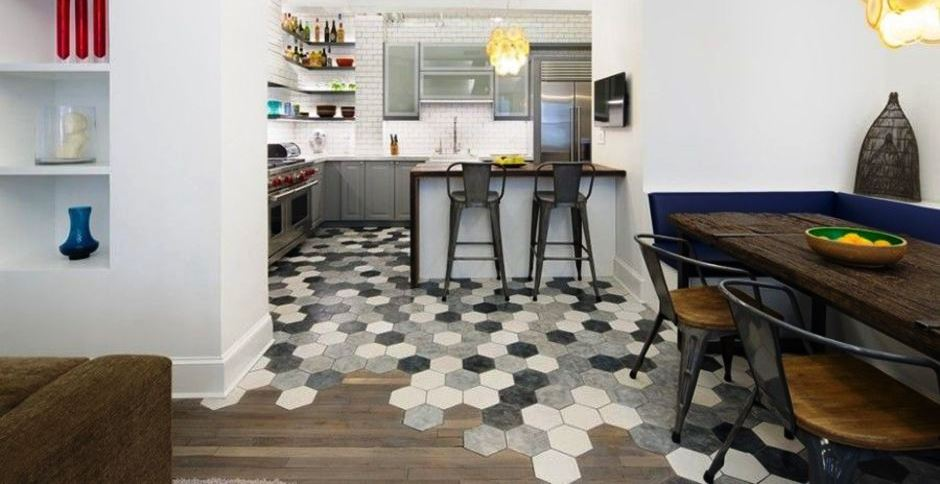 Stunning Hexagon Tile Transitions Design