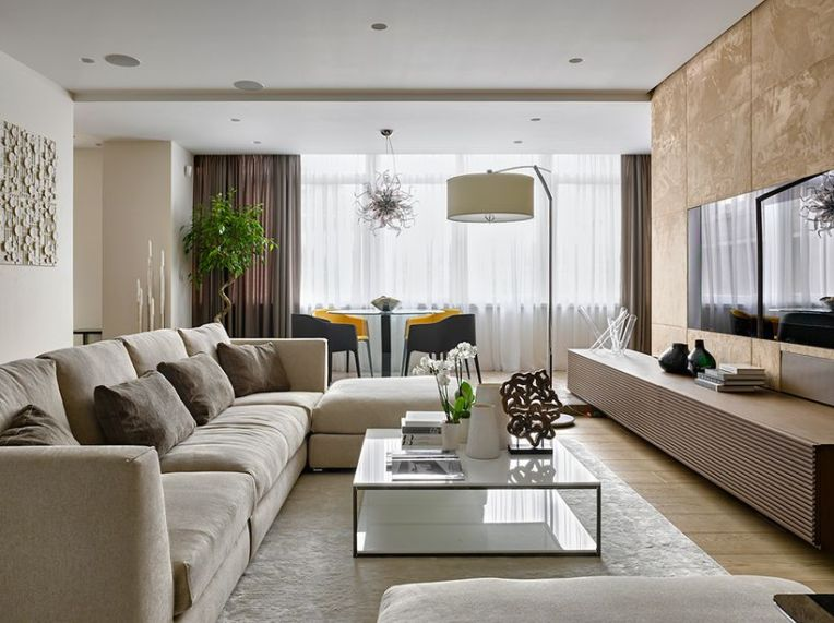 Awesome Modern Apartment Living Room Design Ideas 2