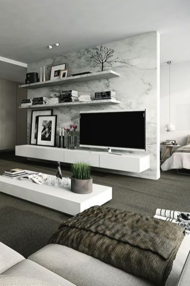 Awesome Modern Apartment Living Room Design Ideas 35
