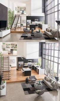 Awesome Modern Apartment Living Room Design Ideas 44