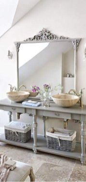 Awesome Rustic Country Bathroom Mirror Ideas 11