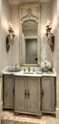 Awesome Rustic Country Bathroom Mirror Ideas 24