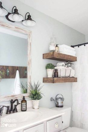 Awesome Rustic Country Bathroom Mirror Ideas 36