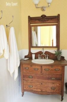 Awesome Rustic Country Bathroom Mirror Ideas 39