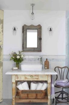 Awesome Rustic Country Bathroom Mirror Ideas 5