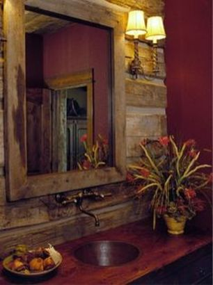 Awesome Rustic Country Bathroom Mirror Ideas 54