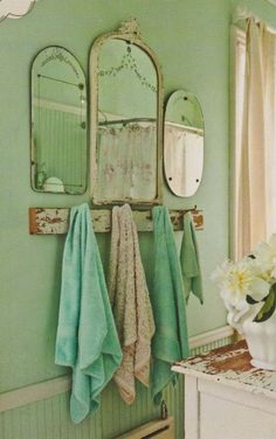 Awesome Rustic Country Bathroom Mirror Ideas 64