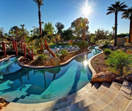 Lazy River Pool On Home Ideas 35