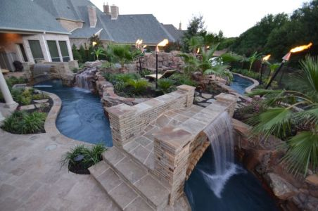 Lazy River Pool On Home Ideas 37