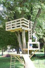 Simple Diy Treehouse For Kids Play 12