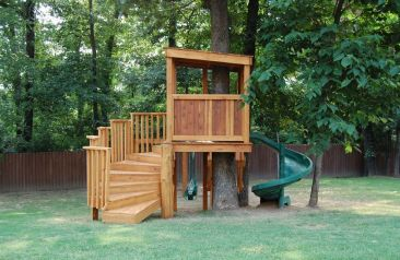 Simple Diy Treehouse For Kids Play 9