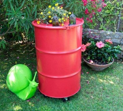 Amazing Creative Recycle Barrels Ideas For Your Home 12