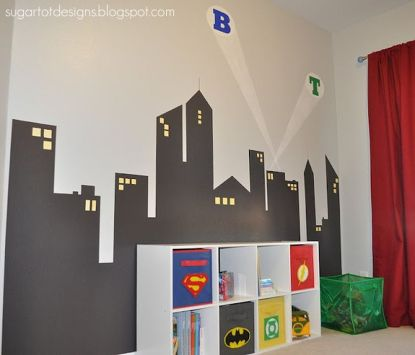 Awesome Superhero Themed Room Design Ideas 13