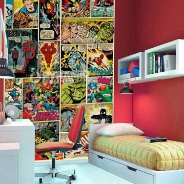 Awesome Superhero Themed Room Design Ideas 29
