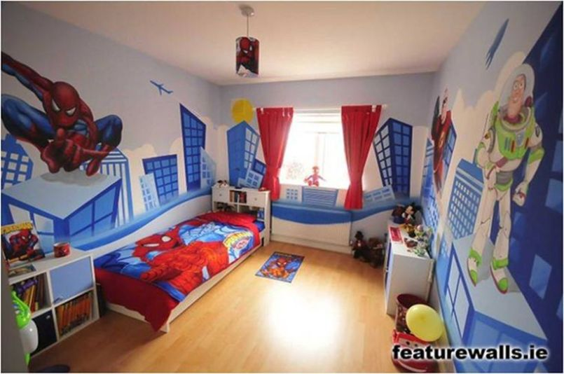 Awesome Superhero Themed Room Design Ideas 55