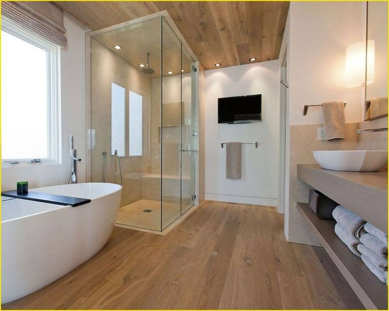 Cozy Wooden Bathroom Designs Ideas 12