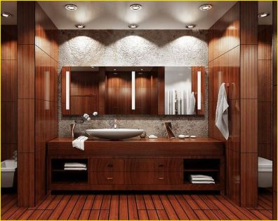 Cozy Wooden Bathroom Designs Ideas 5