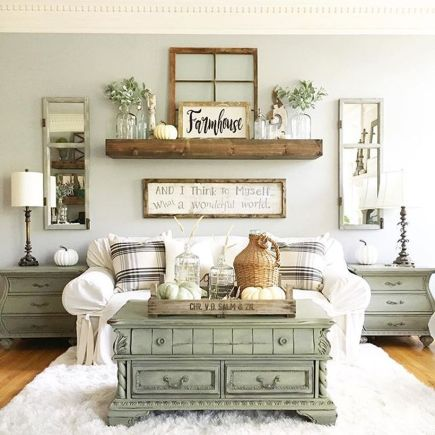Marvelous Farmhouse Style Living Room Design by Angelascozyhome