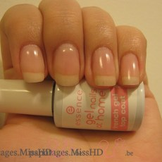 French gel top coat de Essence.
