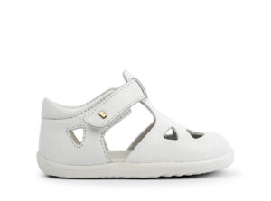 Bobux: Step up Zap Sandal White Quickdry