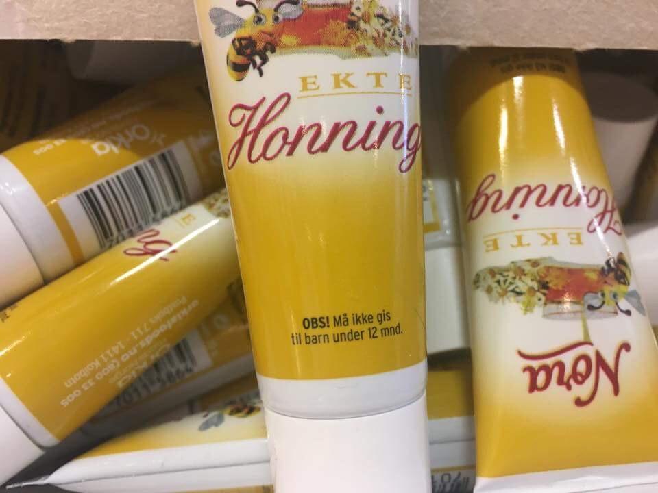 Engangstuber med honning