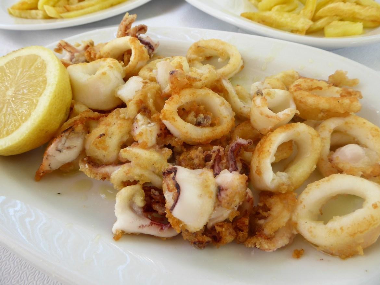 frityrstekt blekksprut