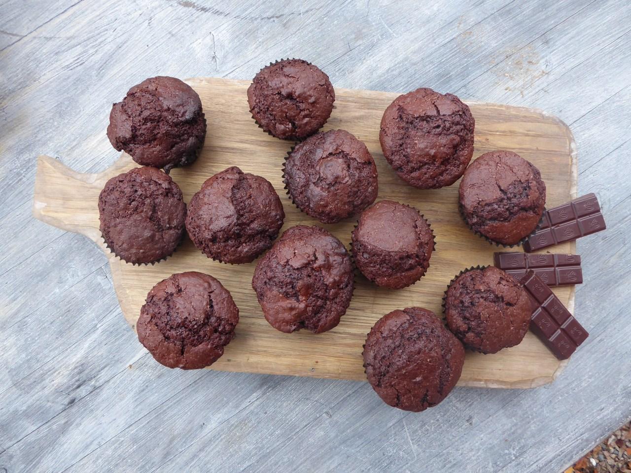 glutenfrie sjokolade muffins