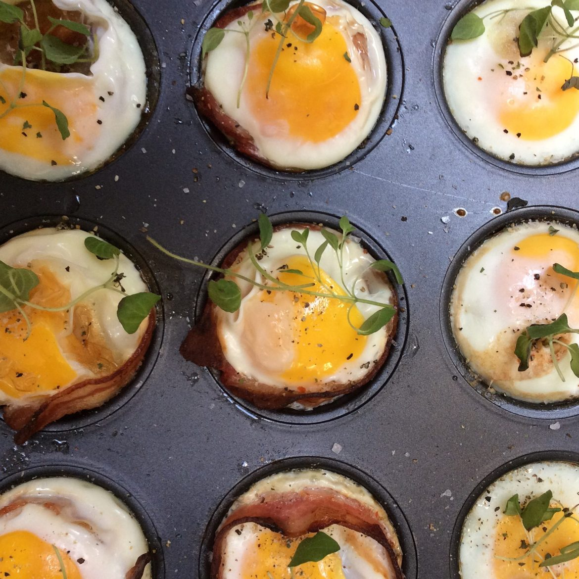 Egg-og bacon muffins