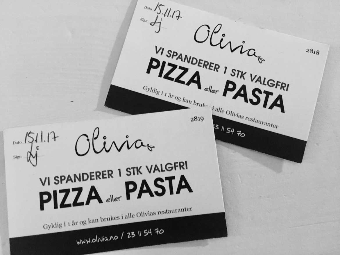 Ta med deg en venn å spis hos Olivia