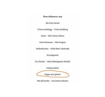 Vi er semifinalister i årets Vixen influencer awards!!!