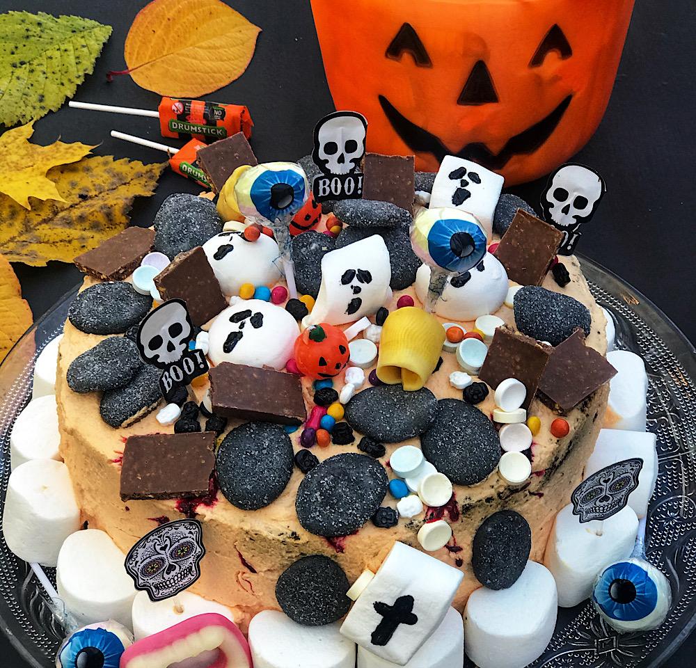 Glutenfri Halloween kake