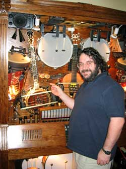 Peter Jackson enjoying his music thing