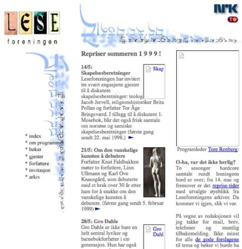 Screenshot Leseforeningen