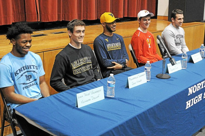 Five North Penn football players sign letters of intent