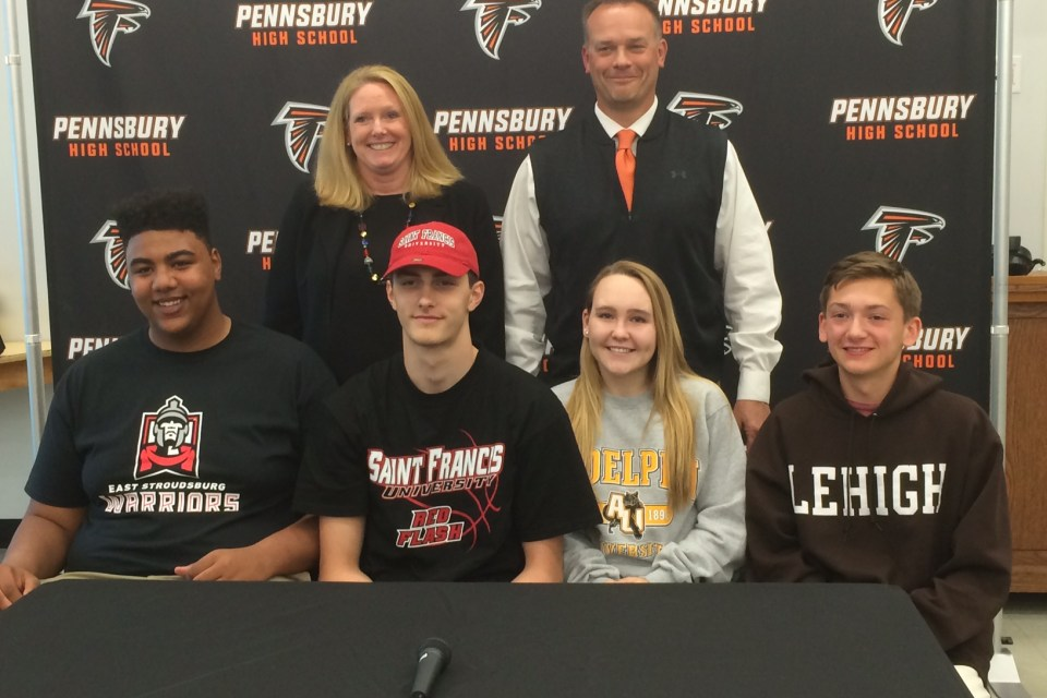 Four from Pennsbury commit to college sports