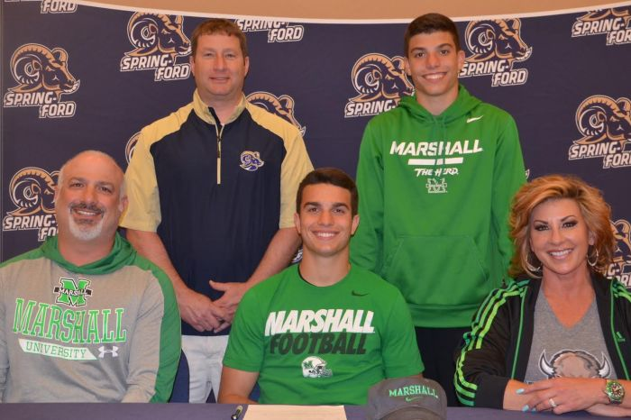 Spring-Ford's Stone Scarcelle signs on with Marshall University