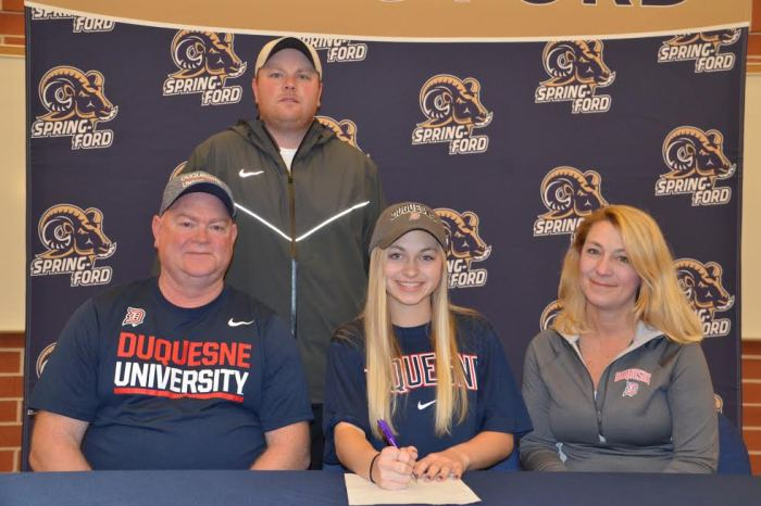 Spring-Ford's Missy Moore signs on with Duquesne