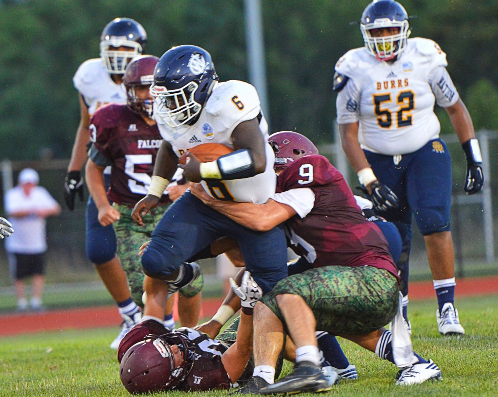 West Catholic's Calil Wortham rushed for 122 yards on 17 carries in the Burrs' victory over Pottsgrove. Pottsgrove looked out of sorts in the team's loss, which also saw West Catholic finish with 22 penalties. (Sam Stewart - Digital First Media)
