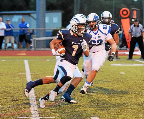 Spring-Ford's Matt Gibson takes a carry against Exeter. (Austin Hertzog - Digital First Media)