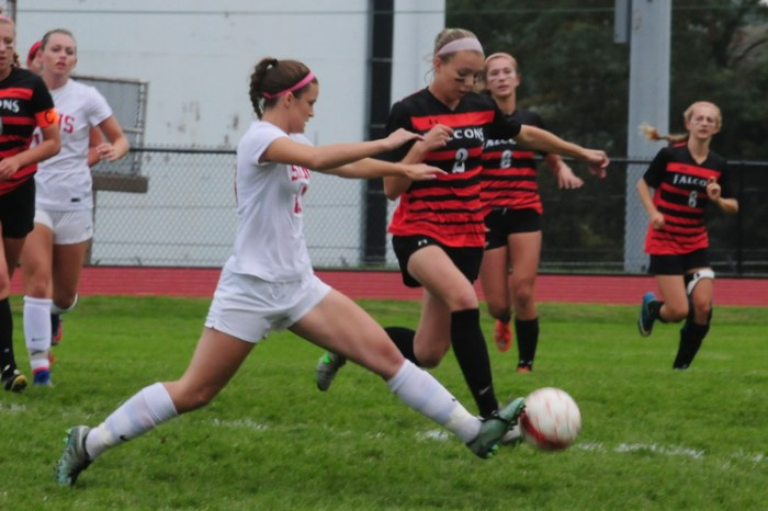 Neshaminy girls soccer tags Pennsbury with first loss of the season