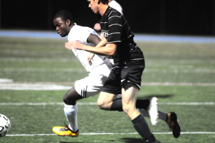 Late first-half goal ignites Father Judge soccer win over Archbishop Wood