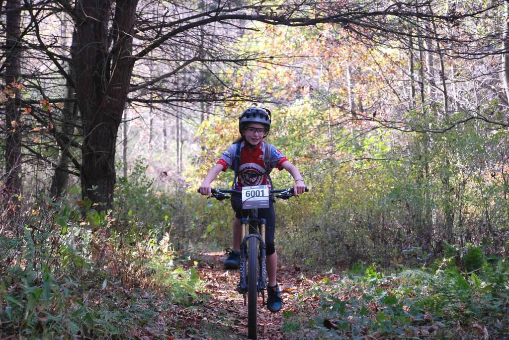 Owen J. Roberts' sixth grader Riley Stutzman captured three gold medals and a pair of silvers during the mountain biking season this fall.