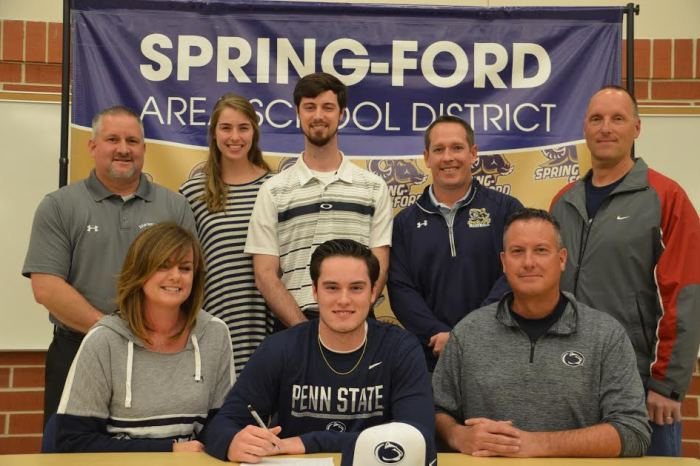 Spring-Ford's Conor Larkin signs on with Penn State