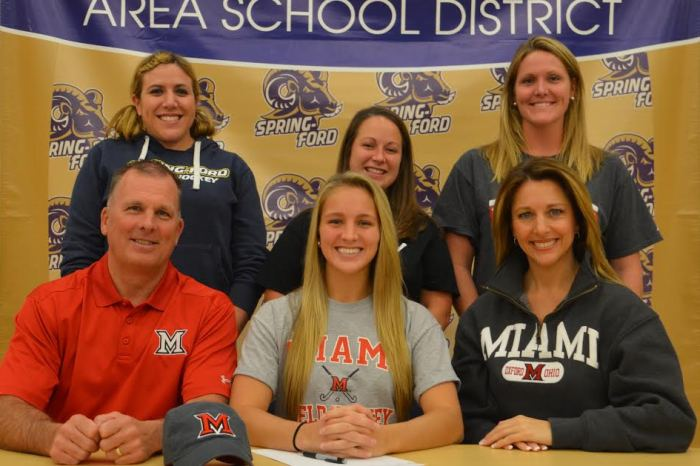 Spring-Ford's Alexis Nugent selects Miami University of Ohio