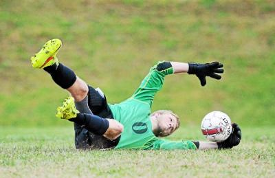 Penncrest goalkeeper Liam Thomas earned All-Central recognition last year and is among the county's elite shot-stoppers this fall. (Times File)