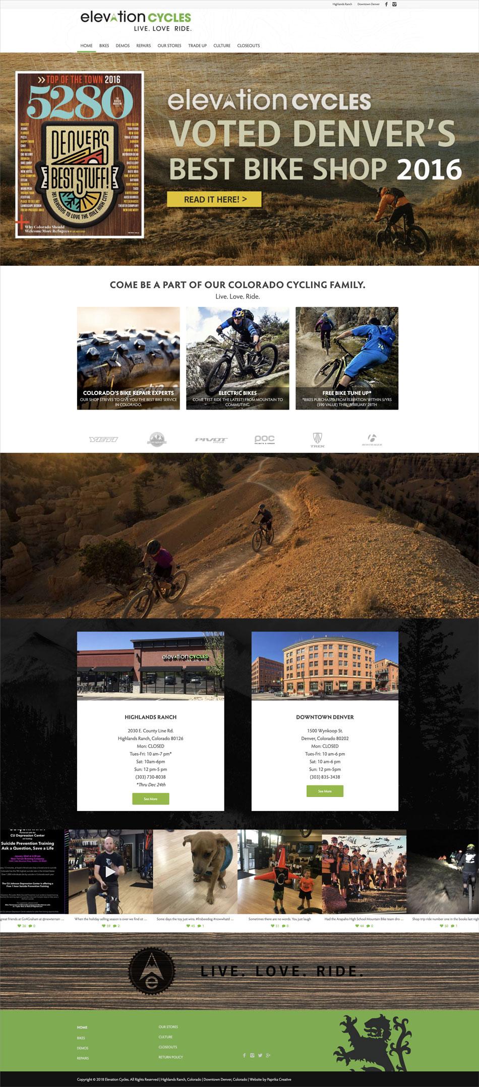 elevationcycles.com website v2